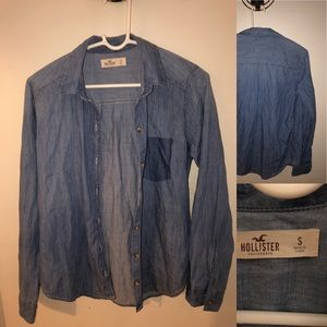 Hollister chambray shirt